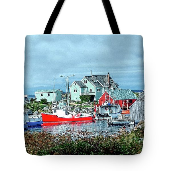 View Of Cove Tote Bag by Kathleen Struckle
