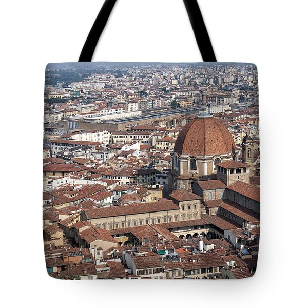 View Of Florence From Brunelleschi's Dome Tote Bag by Melany Sarafis