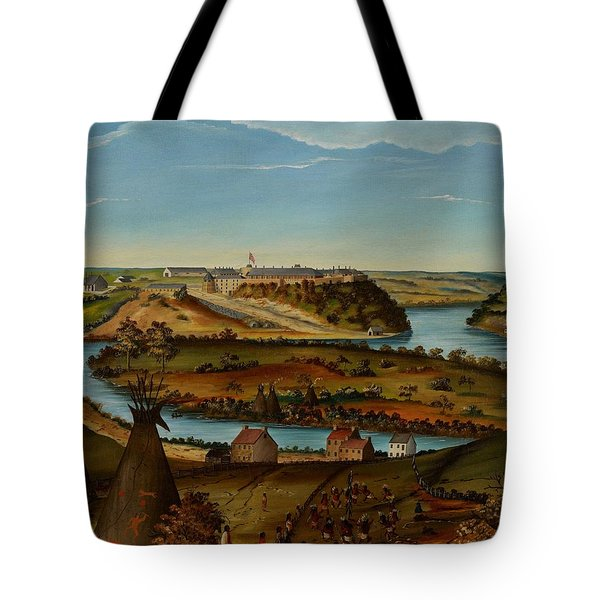 View Of Fort Snelling Tote Bag by Edward K Thomas
