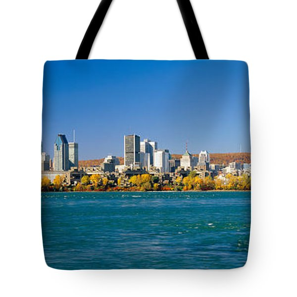View Of Montreal Skyline And The Saint Tote Bag