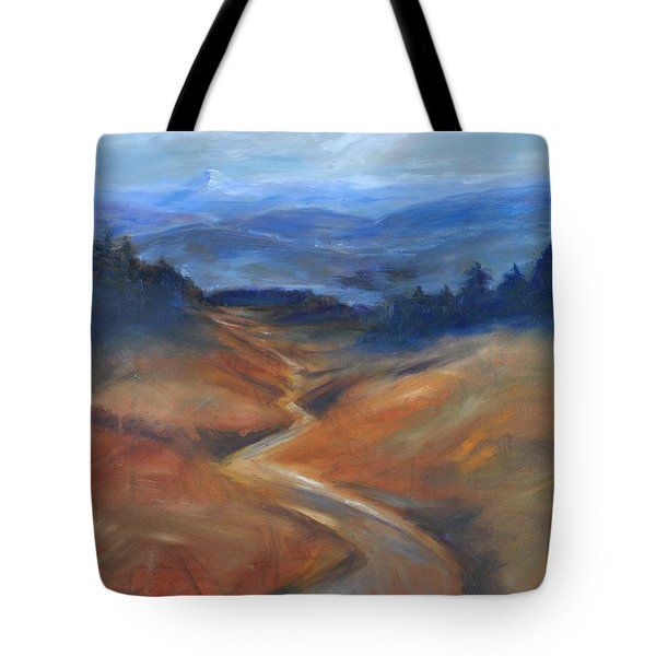 View Of Mt Hood Tote Bag by Sally Simon