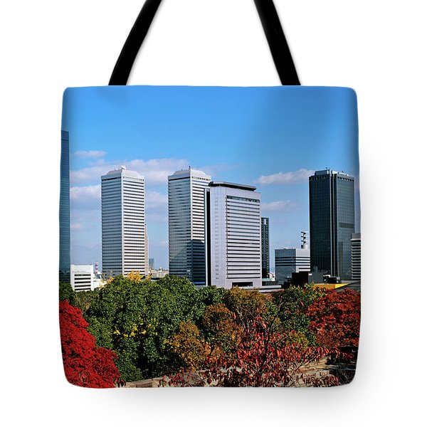 View Of Osaka Business Park In Autumn Tote Bag