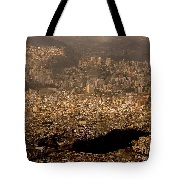 View Of Quito From The Teleferiqo Tote Bag by Eleanor Abramson