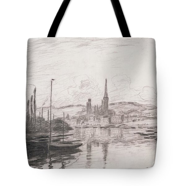 View Of Rouen Tote Bag by Claude Monet