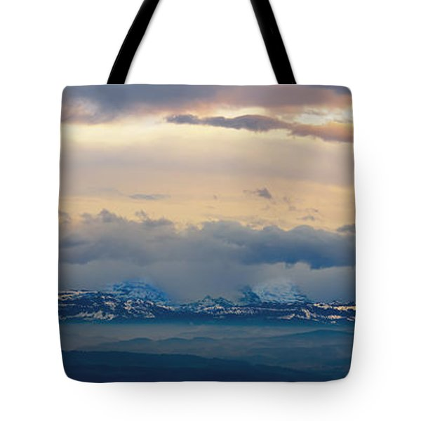 View Of The Alpsjura Switzerland Tote Bag by Yves Marcoux