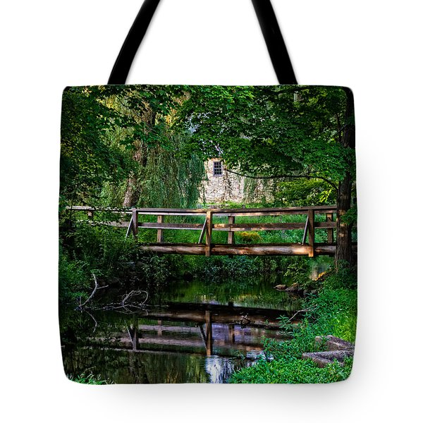 View Of The Grist Mill At Waterloo Village Tote Bag