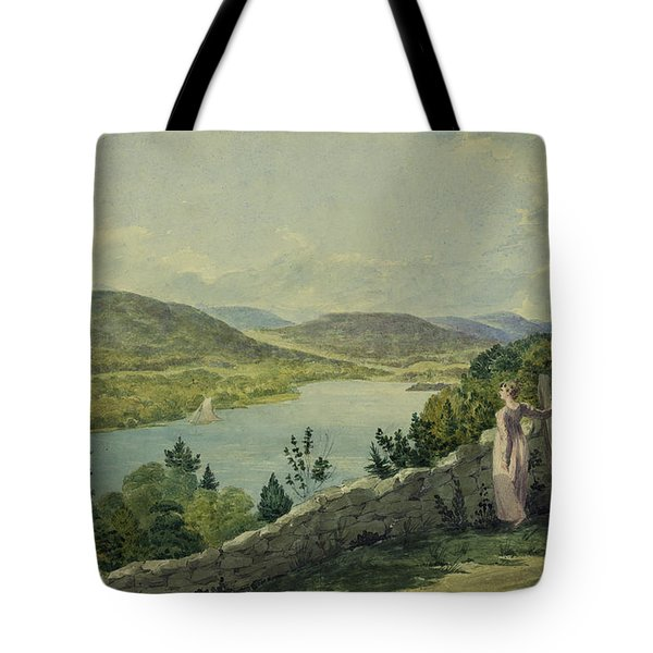 View Of The Hudson Circa 1817 Tote Bag by Aged Pixel