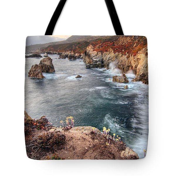 View Of The Rocky Coast From Soberanes Point In Garrapata State  Tote Bag