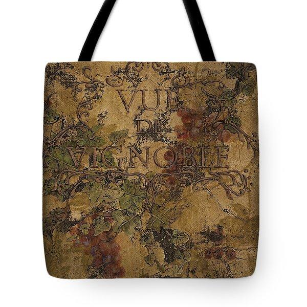 View Of The Vineyard Tote Bag