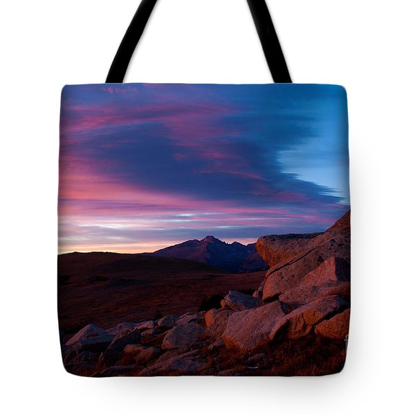 View To Long's Peak Tote Bag by Steven Reed