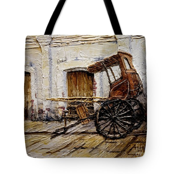 Vigan Carriage 1 Tote Bag by Joey Agbayani