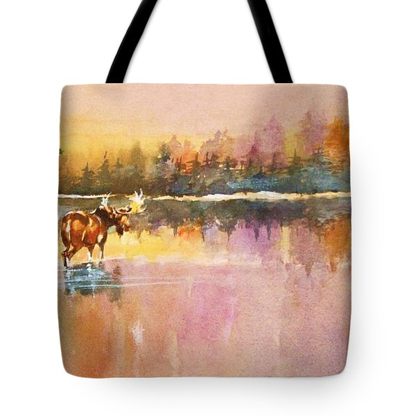 Vigil In The Shallows At Sunrise Tote Bag