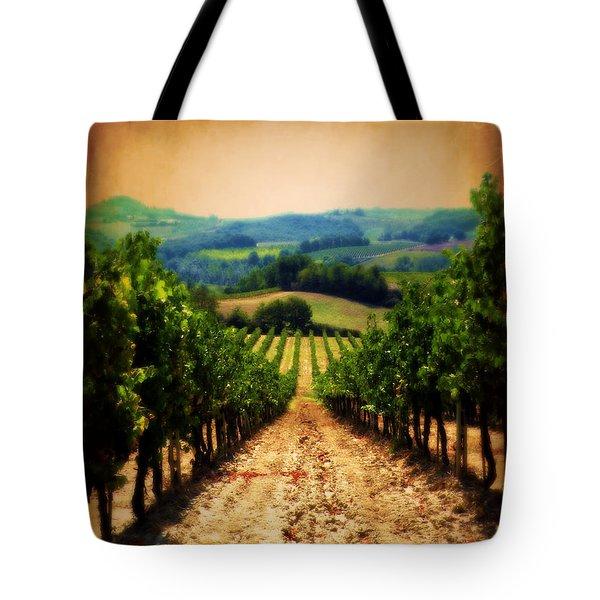Vigneto Toscana Tote Bag by Micki Findlay
