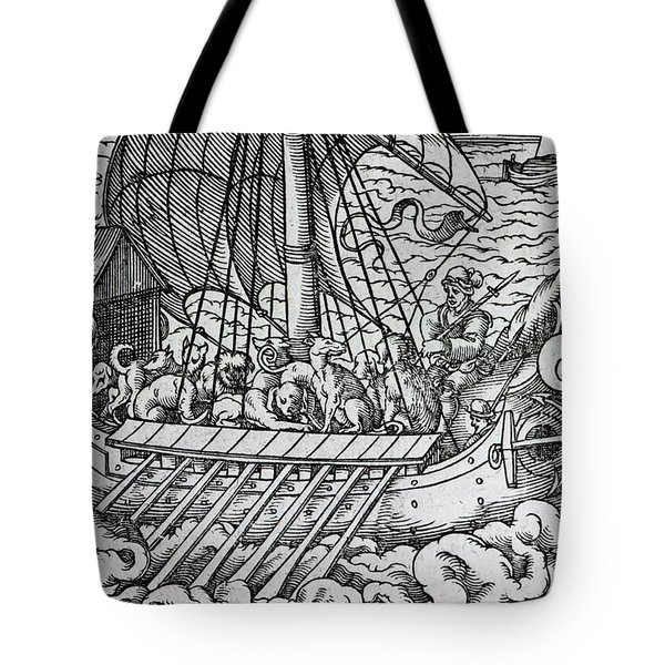 Viking Ship Tote Bag by German School