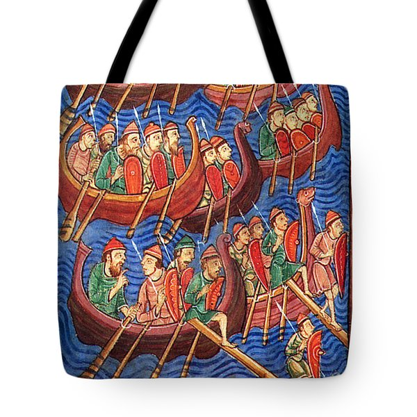 Vikings Invade England 9th Century Tote Bag by Photo Researchers