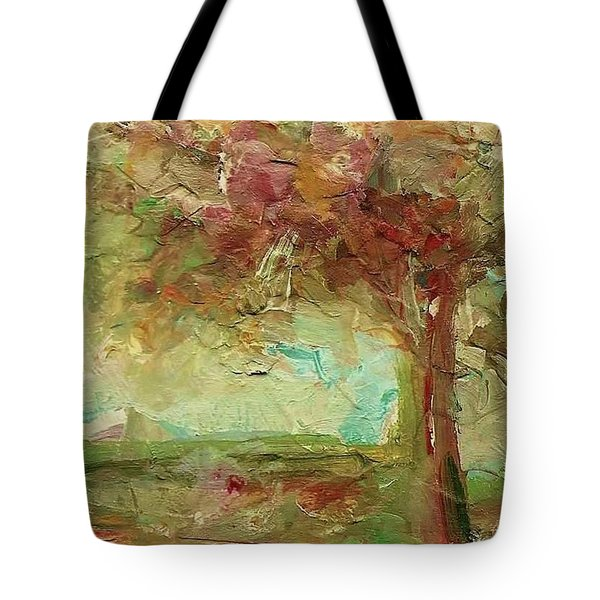 Tote Bag featuring the painting Villa by Mary Wolf