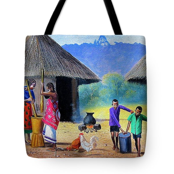 Village Chores Tote Bag