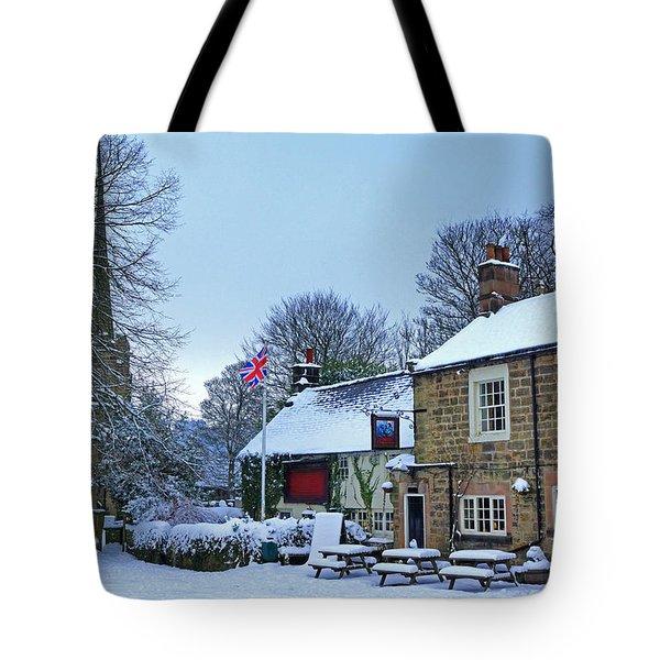 Village Church And Pub Tote Bag by David Birchall