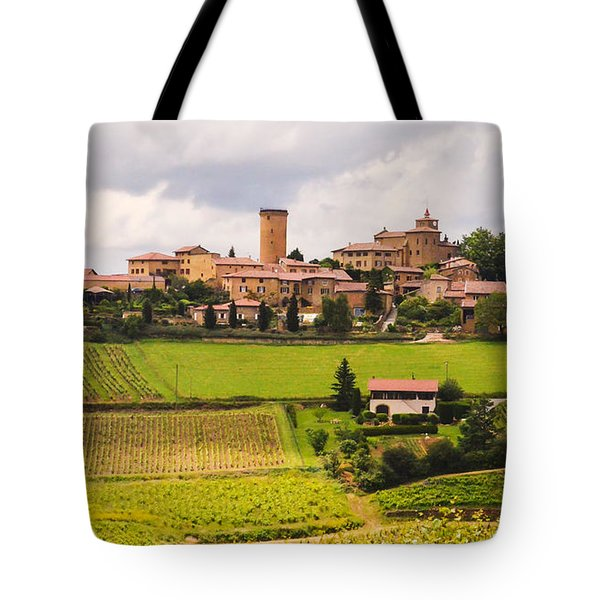 Village In French Countryside Tote Bag by Allen Sheffield