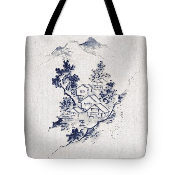 Village In The Mountains Tote Bag by Aged Pixel