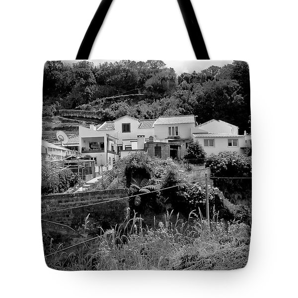 Village Nestled In The Hills  Tote Bag