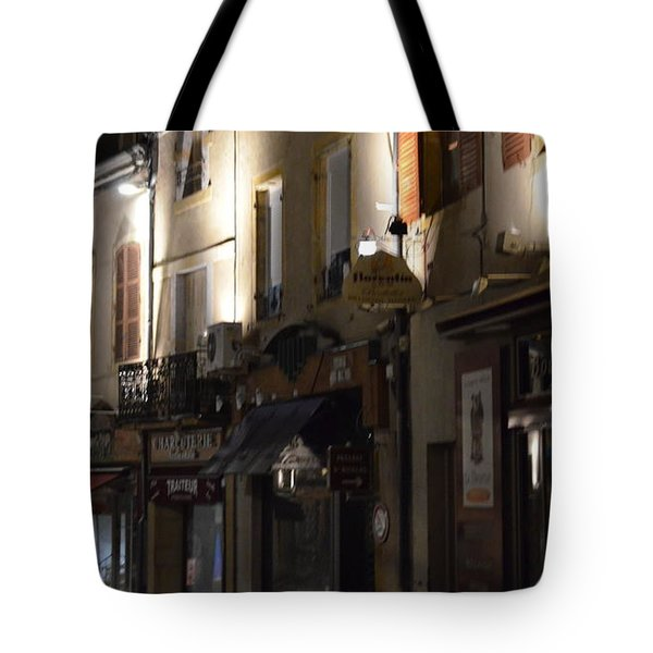 Village Nightscape Tote Bag