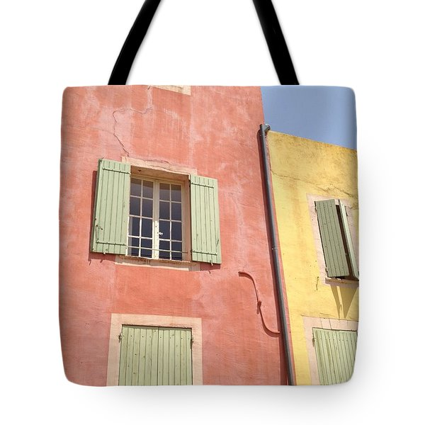 Village Of Roussillon France Tote Bag by Pema Hou