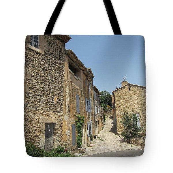 Village Road Tote Bag by Pema Hou