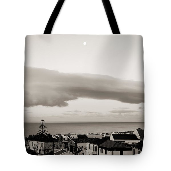 Village Rooftops At Sunrise Tote Bag