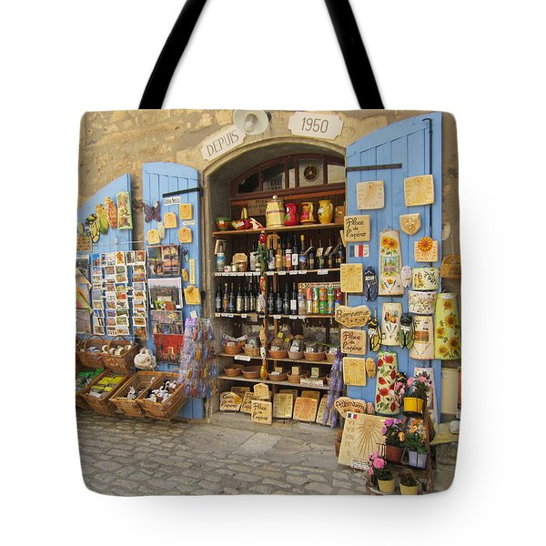 Village Shop Display Tote Bag by Pema Hou