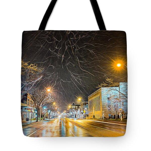 Village Winter Dream - Square Tote Bag