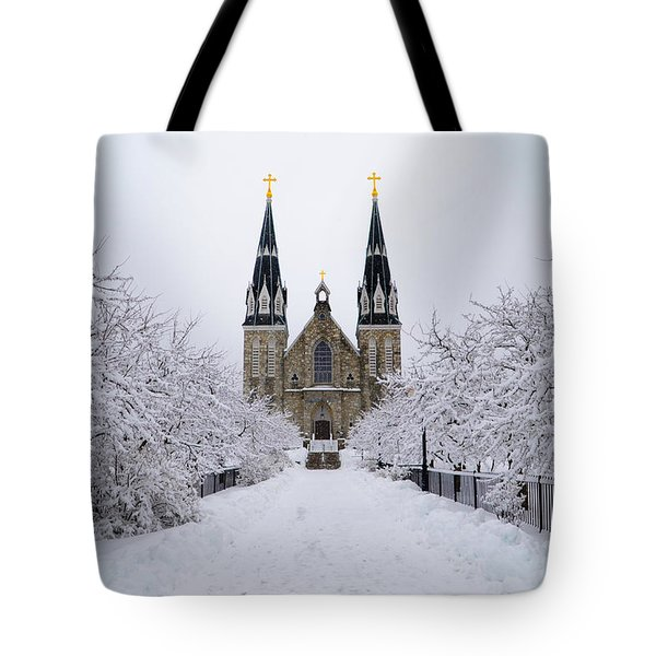 Villanova University In The Snow Tote Bag