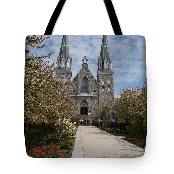 Villanova University Main Chapel  Tote Bag by William Norton