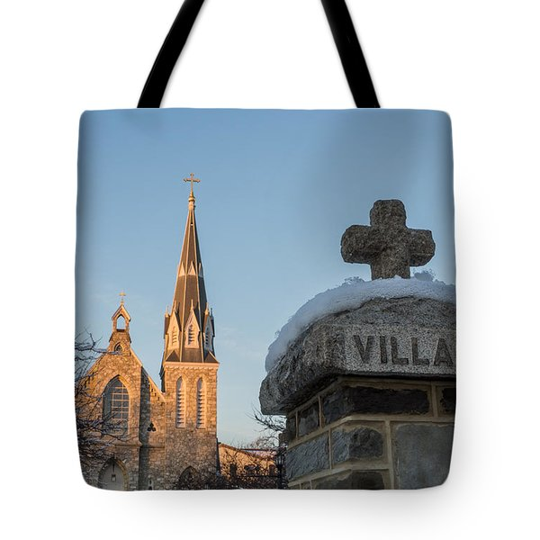 Villanova Wall And Chapel Tote Bag by Photographic Arts And Design Studio