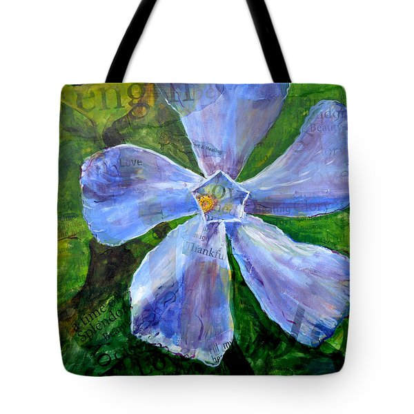 Vinca Joy Tote Bag