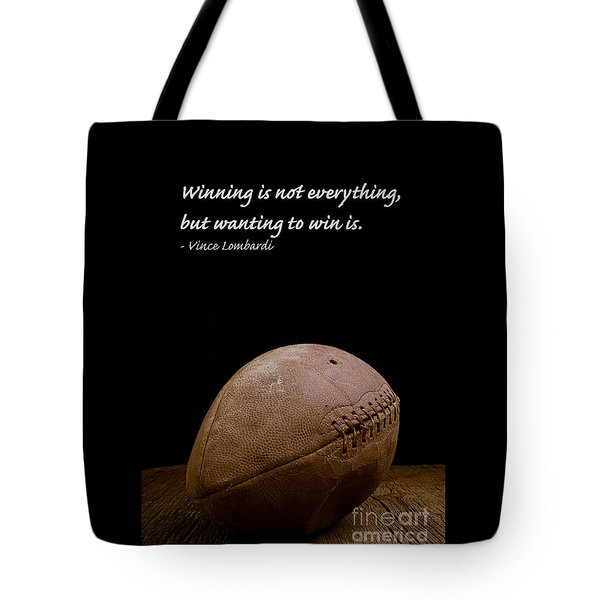 Vince Lombardi On Winning Tote Bag by Edward Fielding