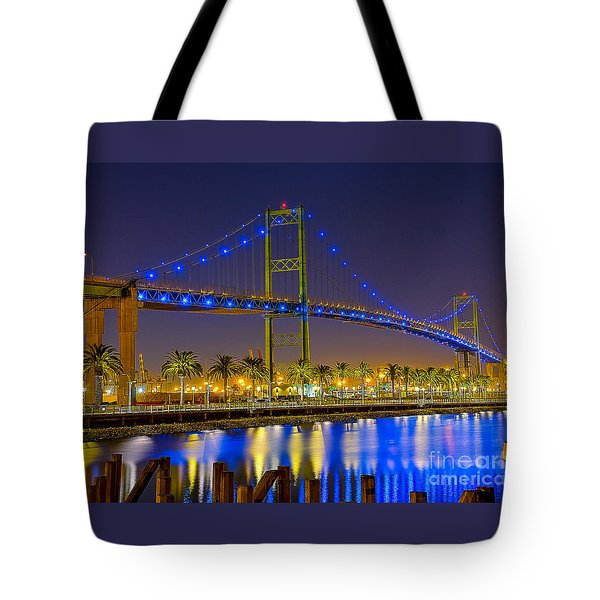 Vincent Thomas Bridge - Nightside Tote Bag