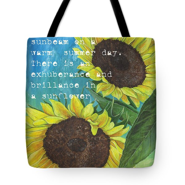 Vince's Sunflowers 1 Tote Bag