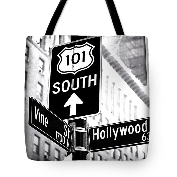 Vine And Hollywood Tote Bag by John Rizzuto