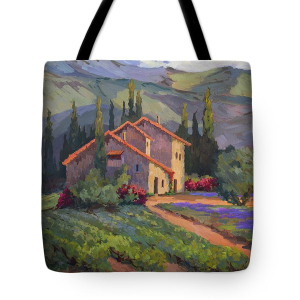Vineyard And Lavender In Provence Tote Bag