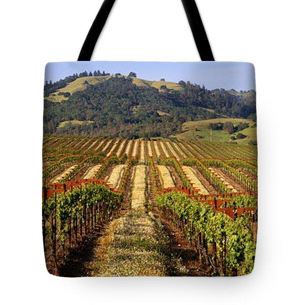 Vineyard, Geyserville, California, Usa Tote Bag