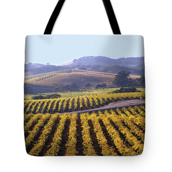 6b6386-vineyard In Autumn Tote Bag