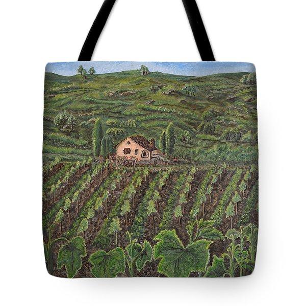 Vineyard In Neuchatel Tote Bag
