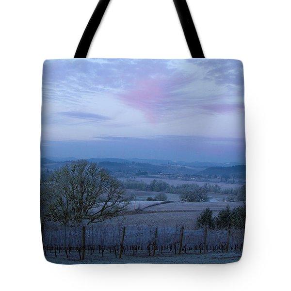 Vineyard Morning Light Tote Bag by Jean Noren
