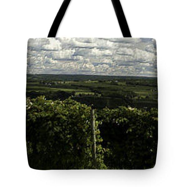 Vineyard On Keuka Lake Tote Bag by Richard Engelbrecht