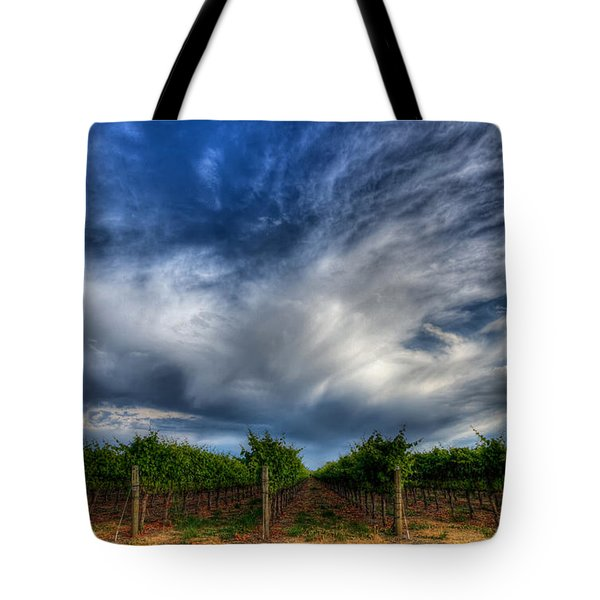 Vineyard Storm Tote Bag