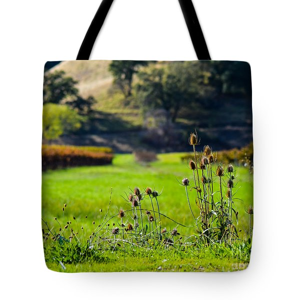 Vineyard Thistles Tote Bag