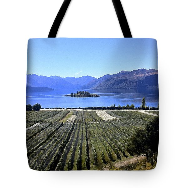 Vineyard View Of Ruby Island Tote Bag by Venetia Featherstone-Witty