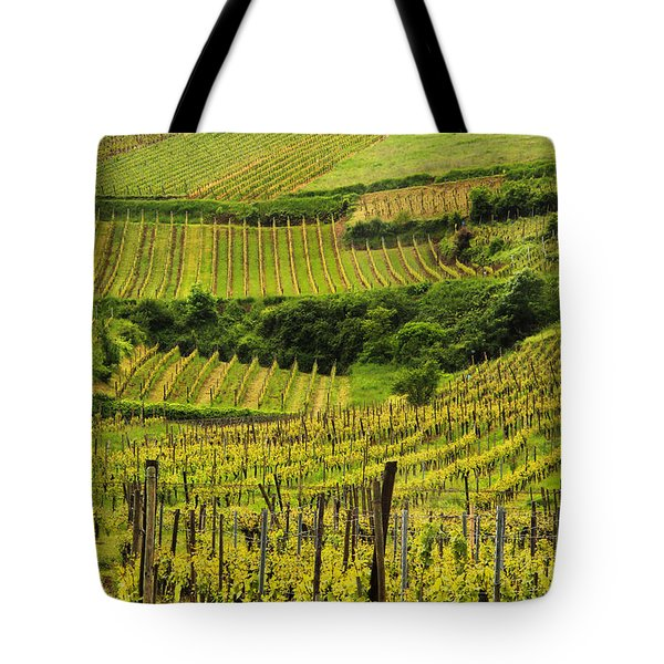 Vineyards Above Ammerschwihr France Tote Bag by Greg Matchick