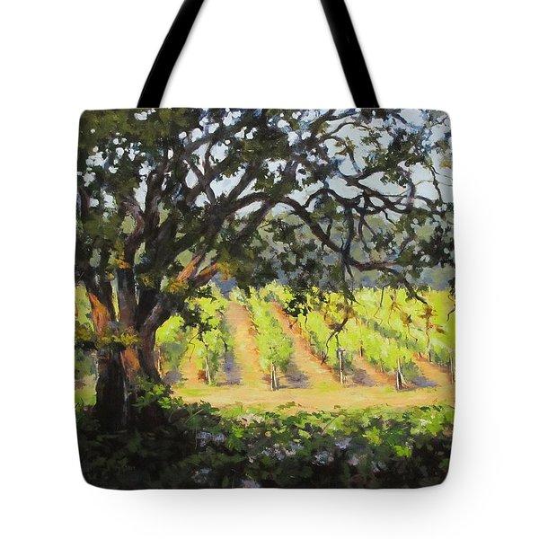 Vineyards Edge Tote Bag by Karen Ilari
